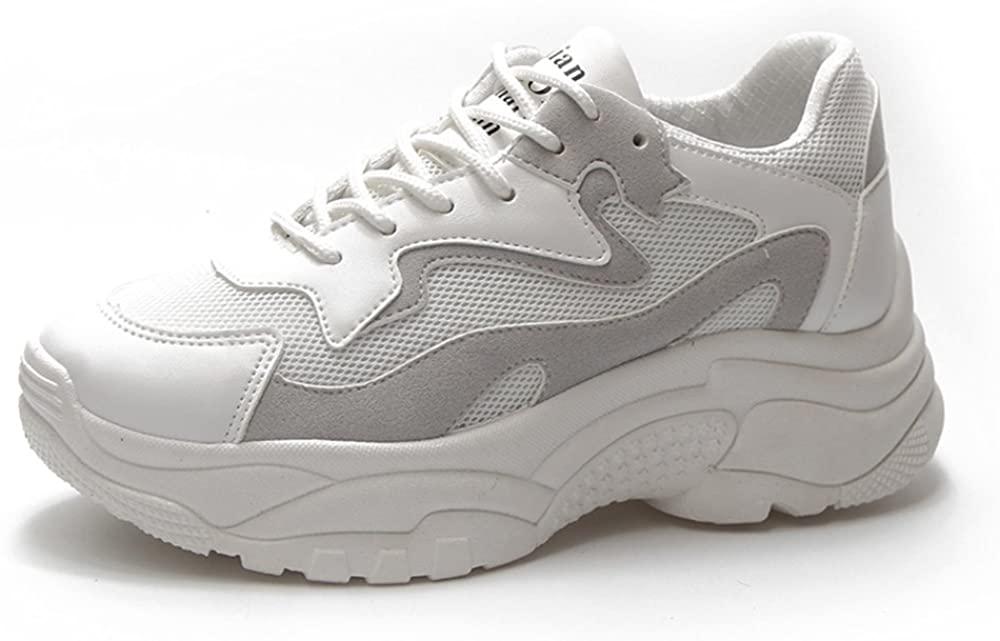 Agnus.W Fashion British Style Old Shoes Ladies Dance Shoes Breathable Casual Shoes (EU35-5 B(M) US, White)