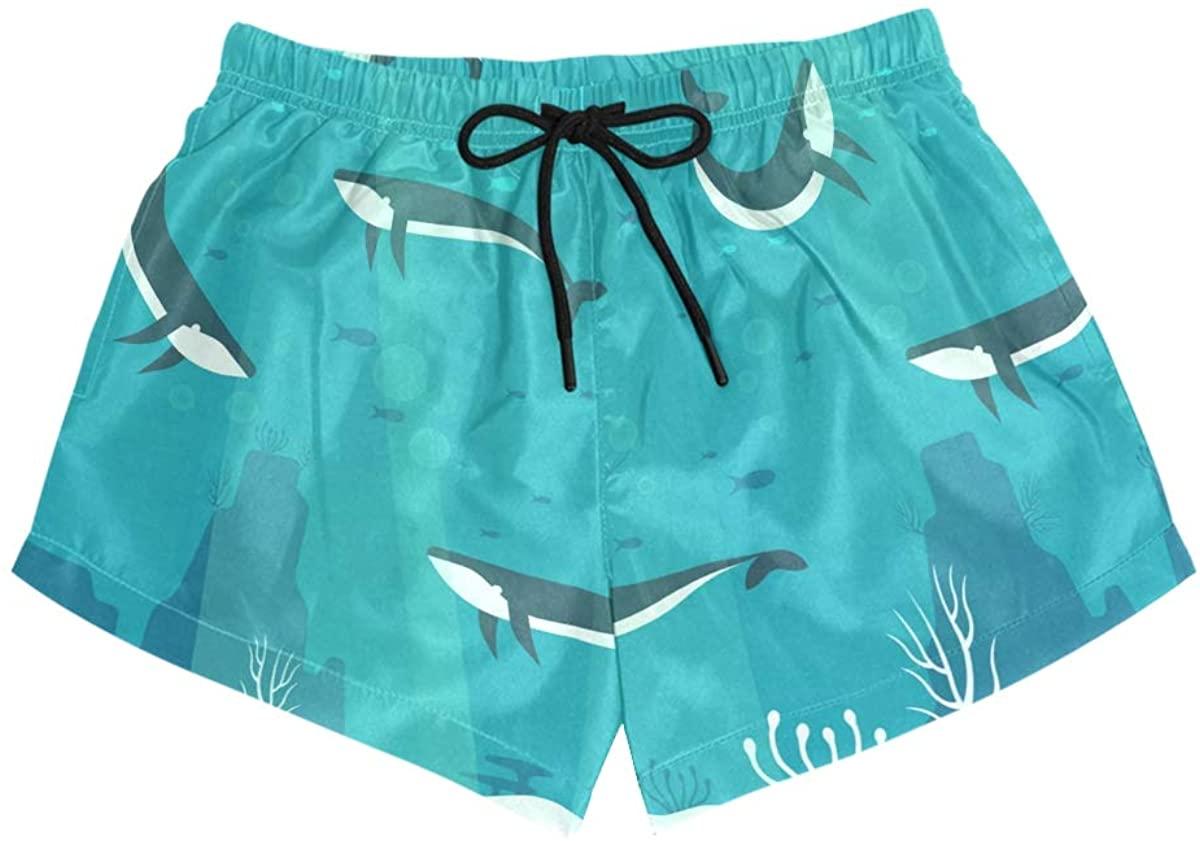 MONTOJ Sharks Women's Board Short Briefs Comfort Quick Dry