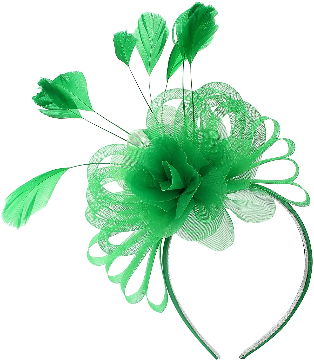 Myjoyday Fascinator for Women Tea Party Headband Fascinators Wedding Headwear Cocktail Hair Clip