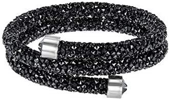 Davitu Wrap Bracelets - ROBOL SWA Original Bracelets Women Jewelry 1:1 Colored Crystal Rubber Bracelet Production 5292451 - (Metal Color: 5255910)