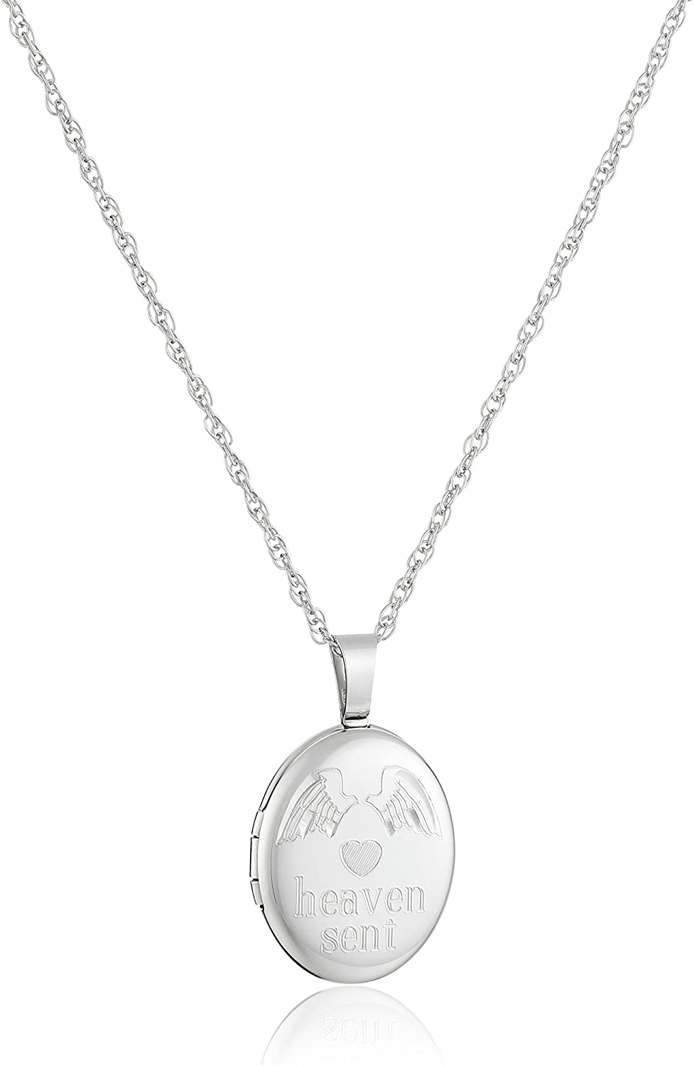 Ladies' Sterling Silver Oval Pendant with