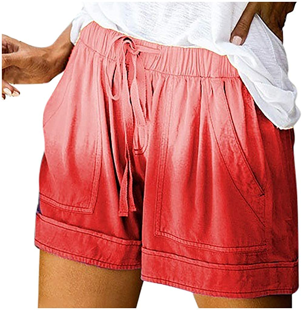Centory Womens Casual Drawstring Elastic Waist Summer Shorts with Pockets S-2XL