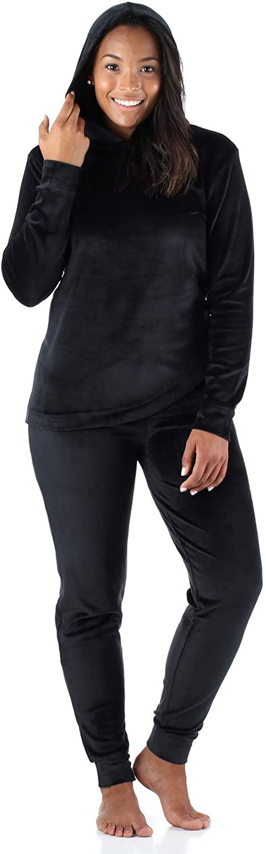 Sleepyheads Women's Sleepwear Velvet Velour Hooded Loungewear Pajamas PJ Set