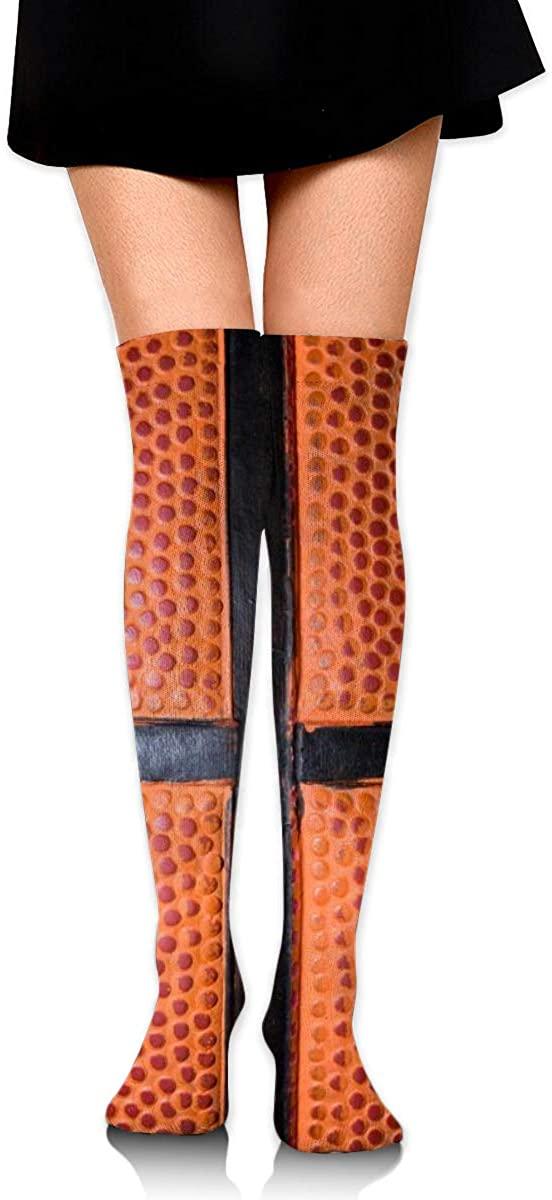 Dress Socks Sports Basketball Ball High Knee Hose Hold-Up Stockings