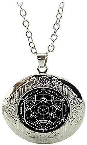 Magic Circle Jewelry Moon Star Ouija Wicca Pentagram Witch Steampunk Locket Necklace Glass Art Photo Jewelry