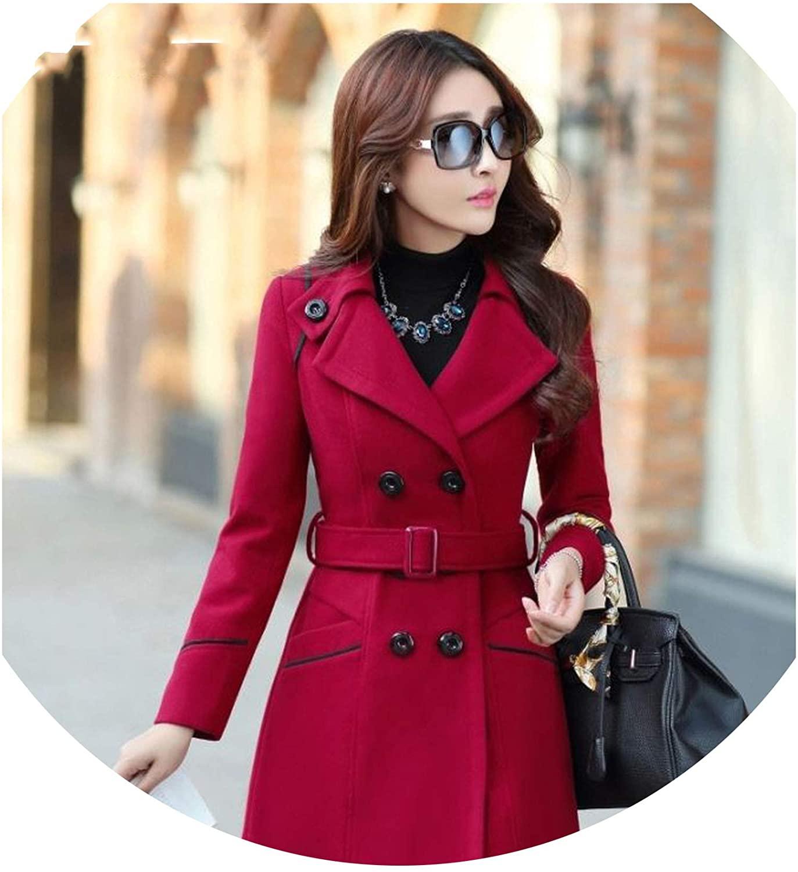 Take-Me Womens Coats Winter Jacket Woolen Elegant Wool Blends Windbreaker Out Plus Size