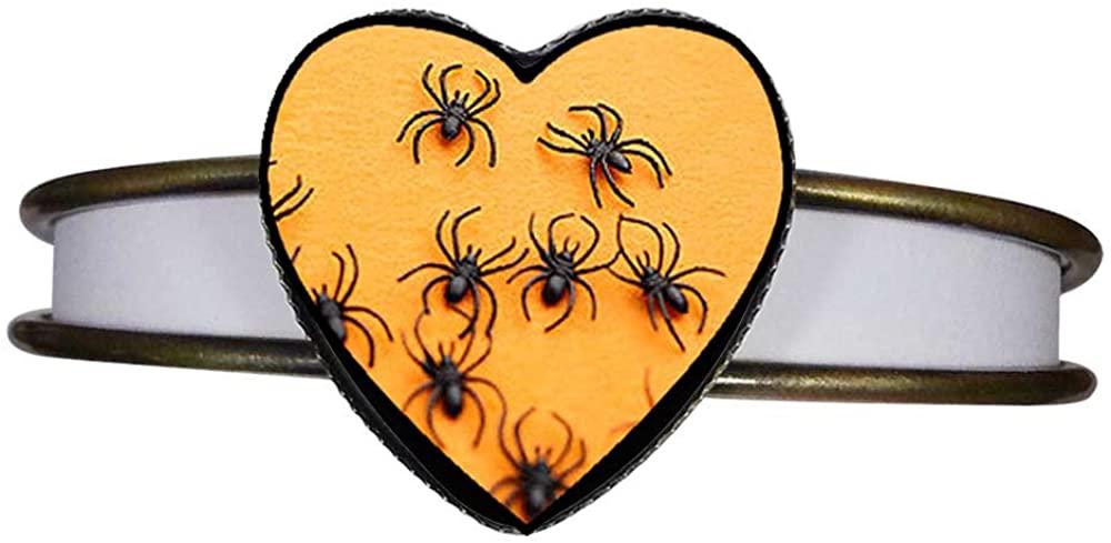GiftJewelryShop Bronze Retro Style Halloween Multi Spider Heart Cuff Bangle Bracelet Fashion Jewelry