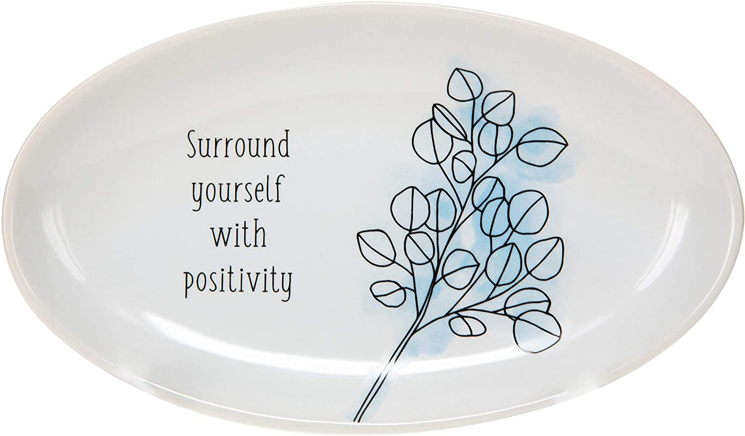 Pavilion Gift Company Surround Yourself with Positivity - Floral 5.5