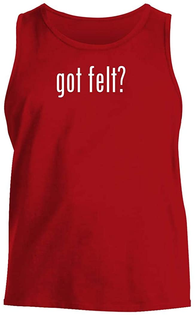 got felt? - Men's Comfortable Tank Top, Red, Large