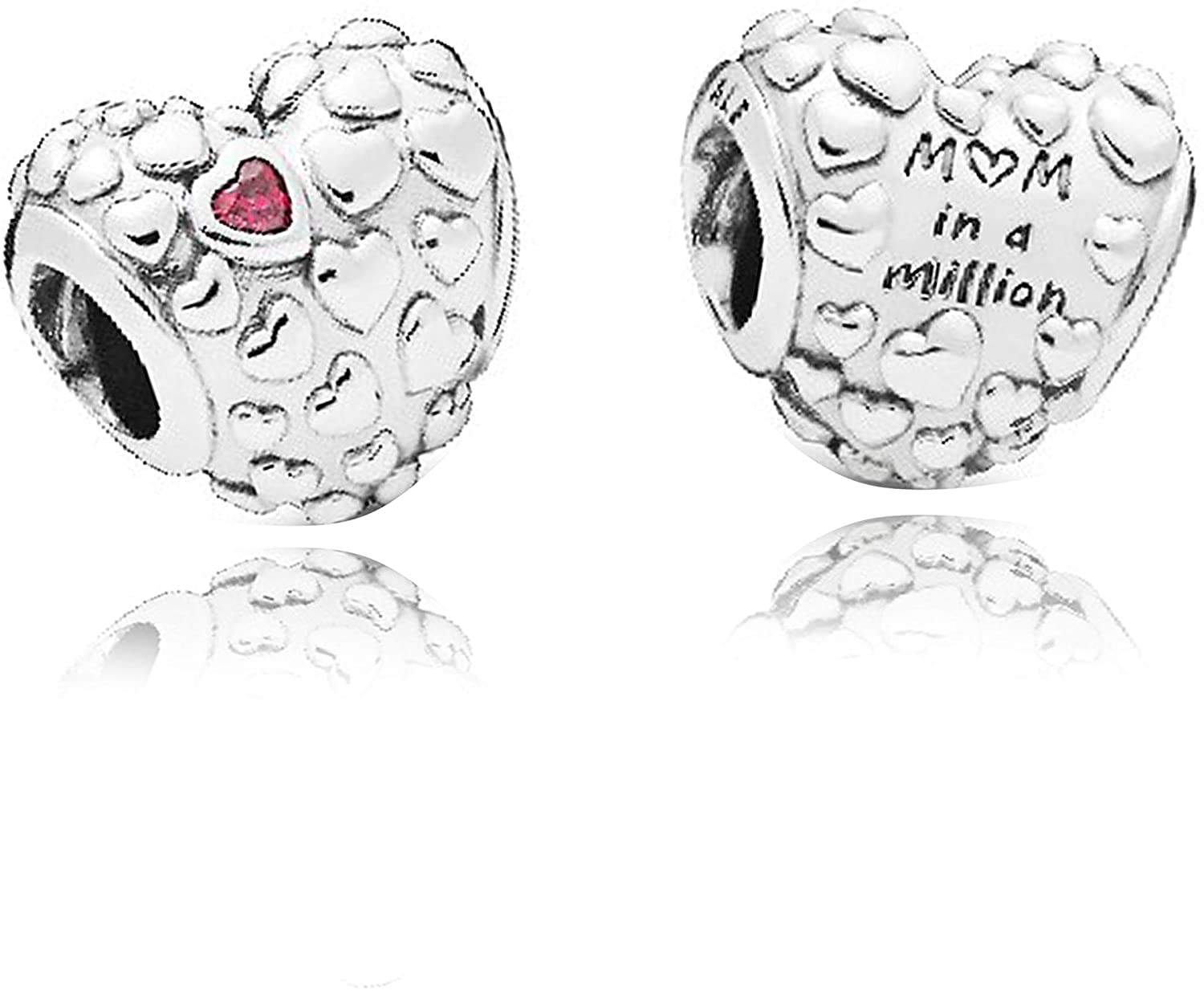 Mom in a Million Authentic 925 Sterling Silver Bead Charm Fits Pandora Charm Bracelet DIY Crafting