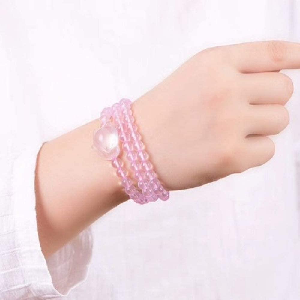 yayoushen Hand String, Natural Crystal Powder Crystal Bracelet Female Multi-Circle Hand String Powder Crystal Gift
