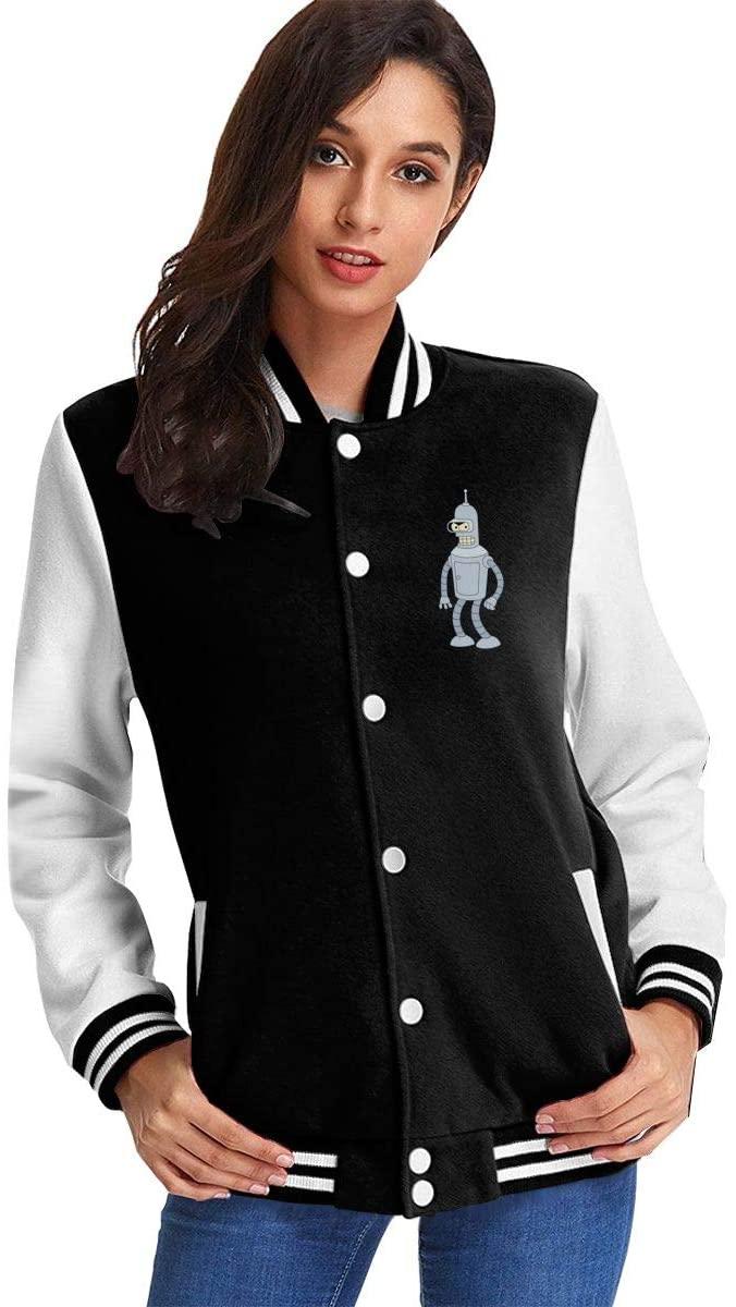 NOT Futurama Bender Women's Plus Velvet Baseball Uniform