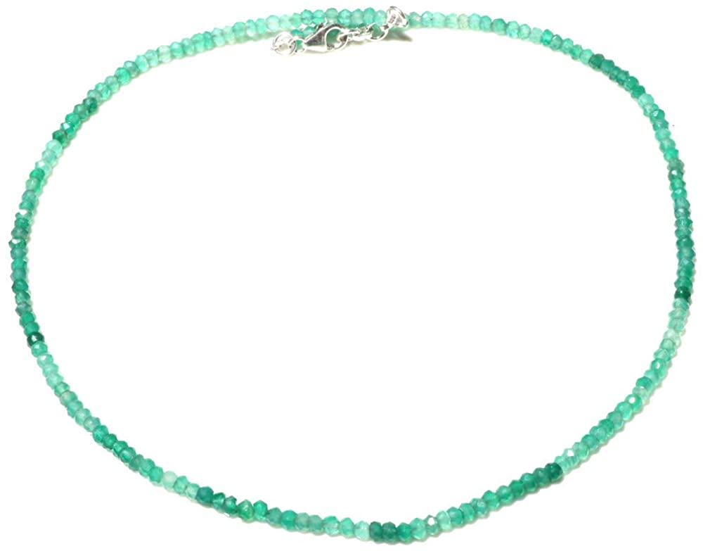 Tibetan Silver Natural Green Onyx GEMTONE 18