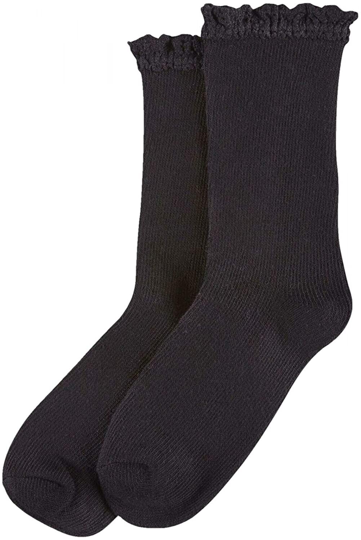 HUE Womens Lace-Trim Space-Dyed Boot Socks. U18169
