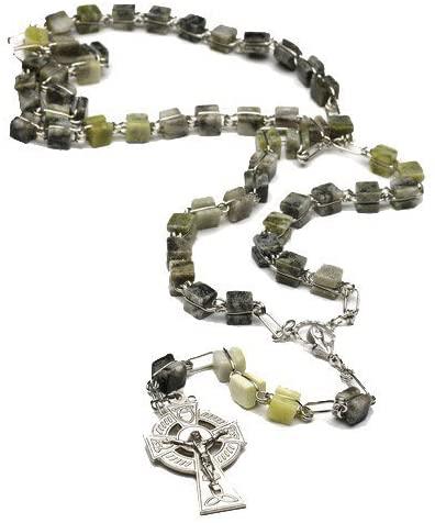 Irish Connemara Marble Rosary Prayer Beads Handcrafted in Ireland by J.C.Walsh & Sons