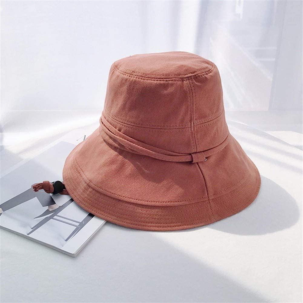 Bin Zhang Hat Female Japanese Big Brim Sun hat UV Sunscreen Wild Commentaries Korean net red Sun hat Cotton (Color : Brick red, Size : One Size)