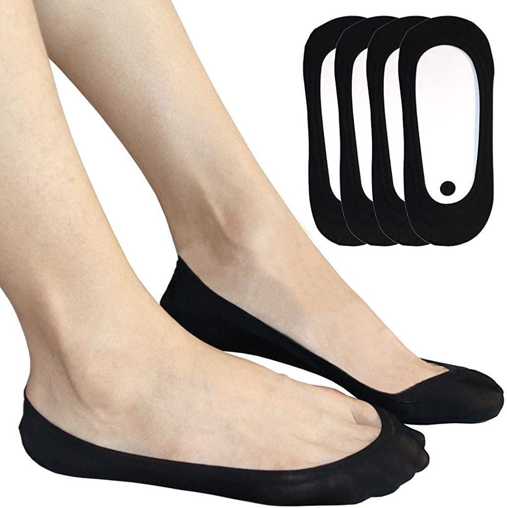 Extra Low Cut No Show Liner Socks Women No Slip Hidden Invisible Flats Heels