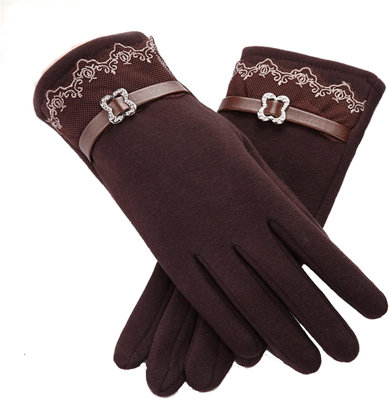 Spiritlele Magic Touch Screen Gloves Winter Warm Texting Gold Finger Telefingers Gloves for Women