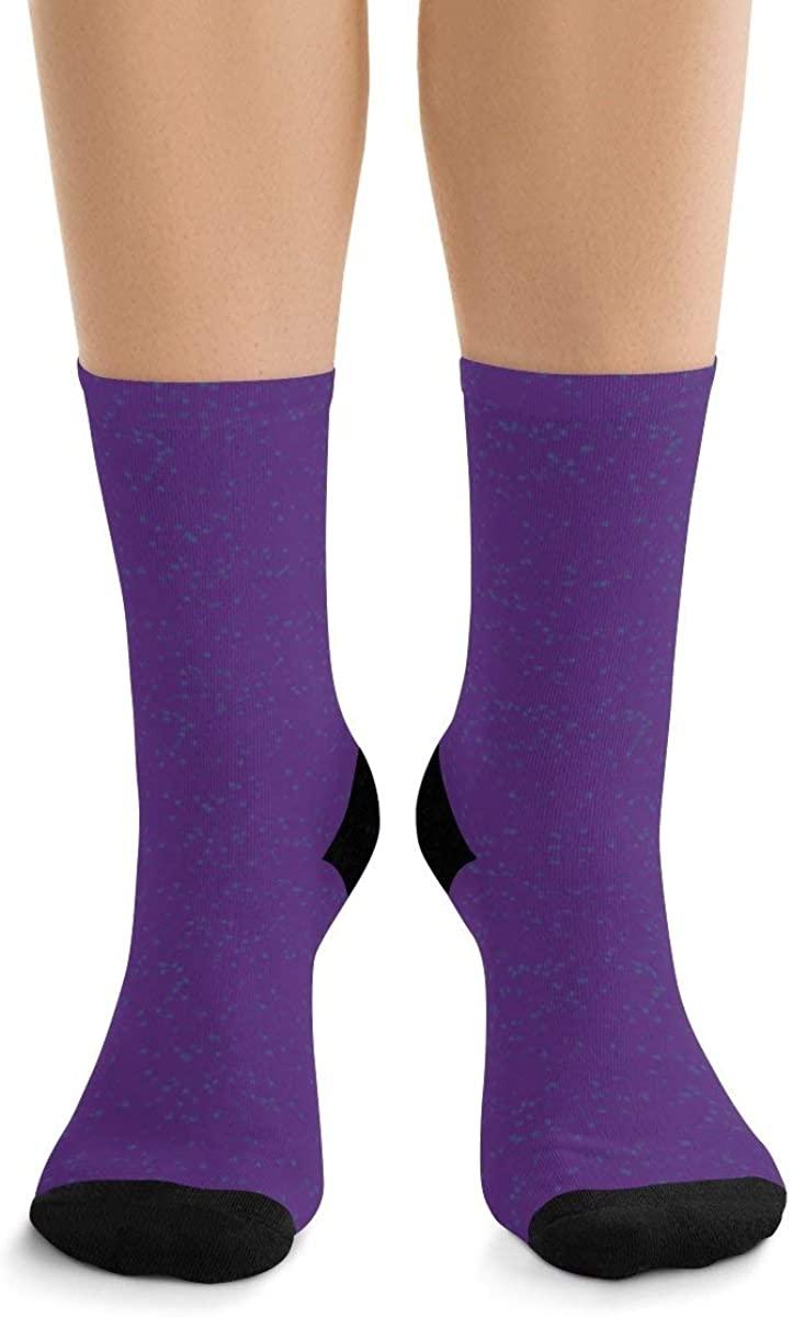 Snow Little Dots Purple Sequin IV DTG Socks