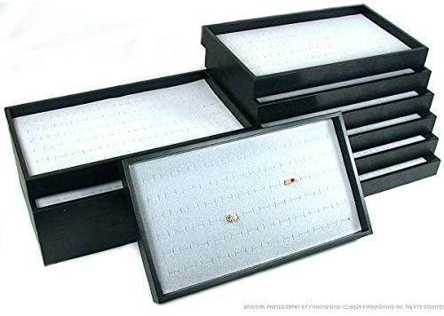 FindingKing 12 72 Slot Gray Ring Display & Travel Tray