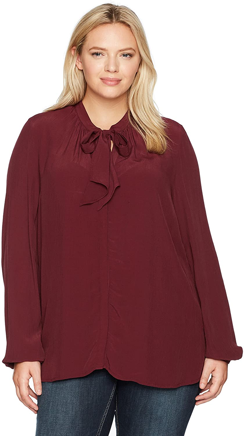 Lucky Brand Women's Plus Size Tie Front Top