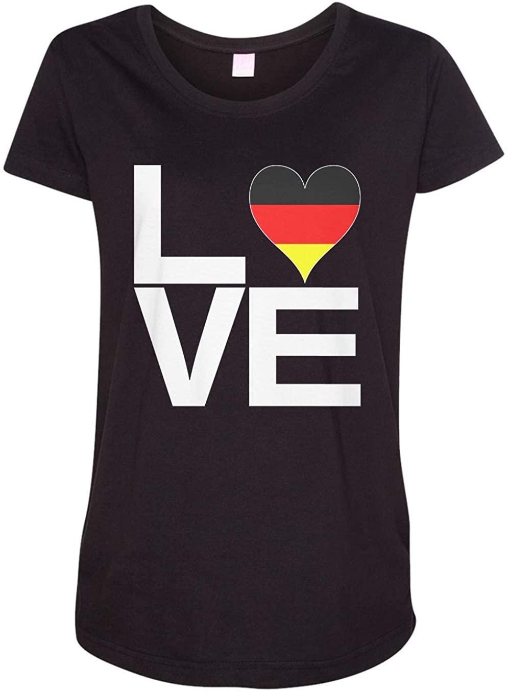 Tenacitee Ladies Love Block Germany Heart Maternity Shirt
