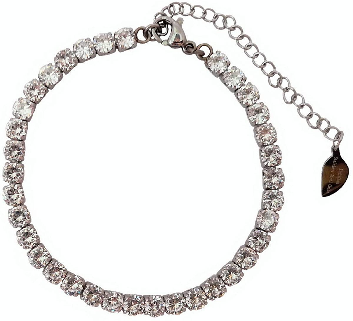 XinSiChen 4mm Cubic Zirconia Classic Tennis Bracelet 6.75