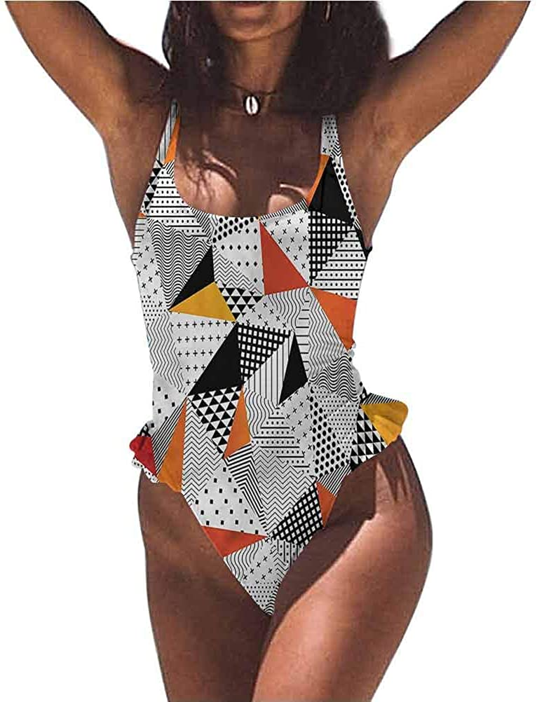 Mid Waisted Bikini Set Abstract, Pile of Old Book Library Super Cute and Unique