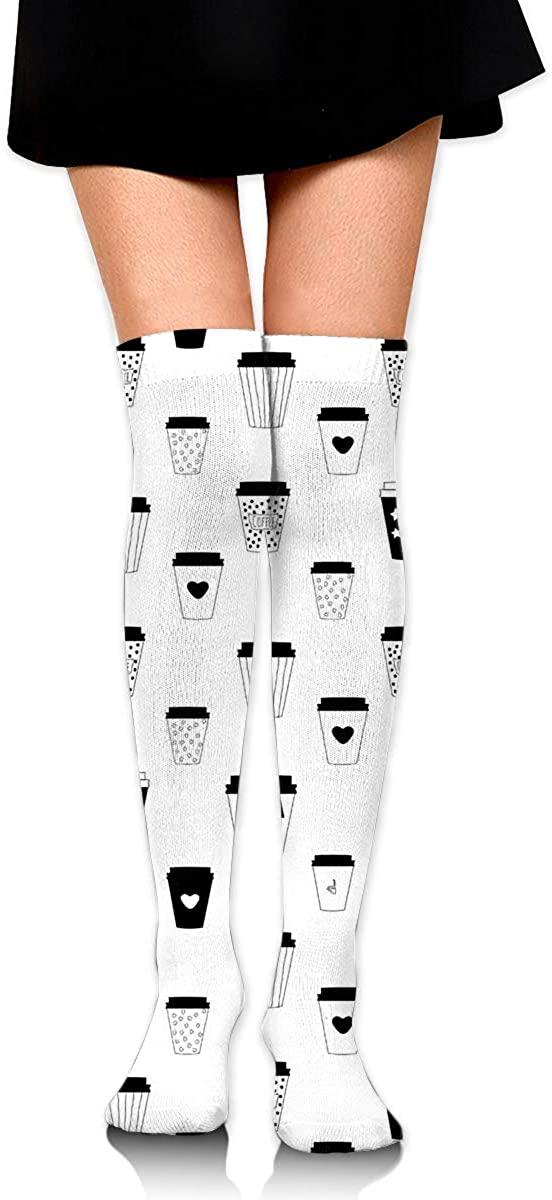 Coffee Tumblers,Winter new hot fashion over the knee socks thigh high socks ladies sexy polyester socks (60CM)