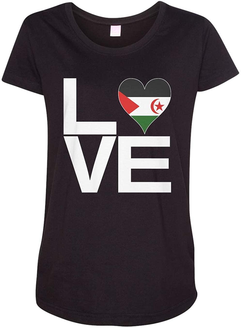 Tenacitee Ladies Love Sahrawi Arab Democratic Republic Maternity Shirt