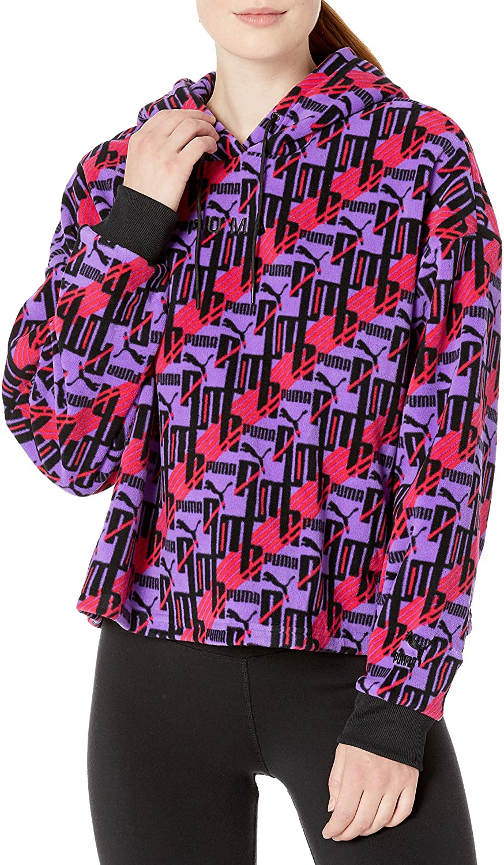 PUMA Women's Xtg Fleece Hoody All Over Print