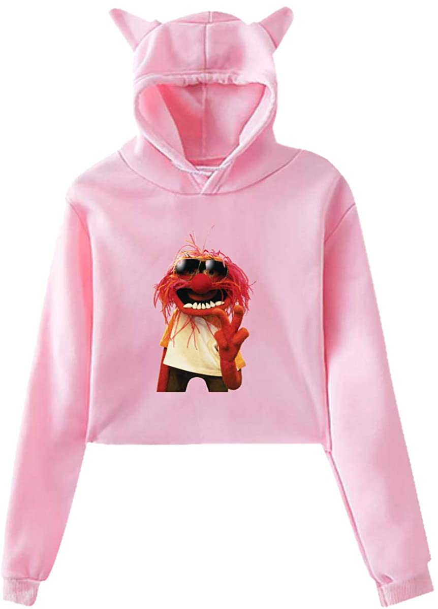 Muppets Face Long Sleeve Cat Ear Pullover Hoodie Sweater Soft Fashion Casual Sweatshirt