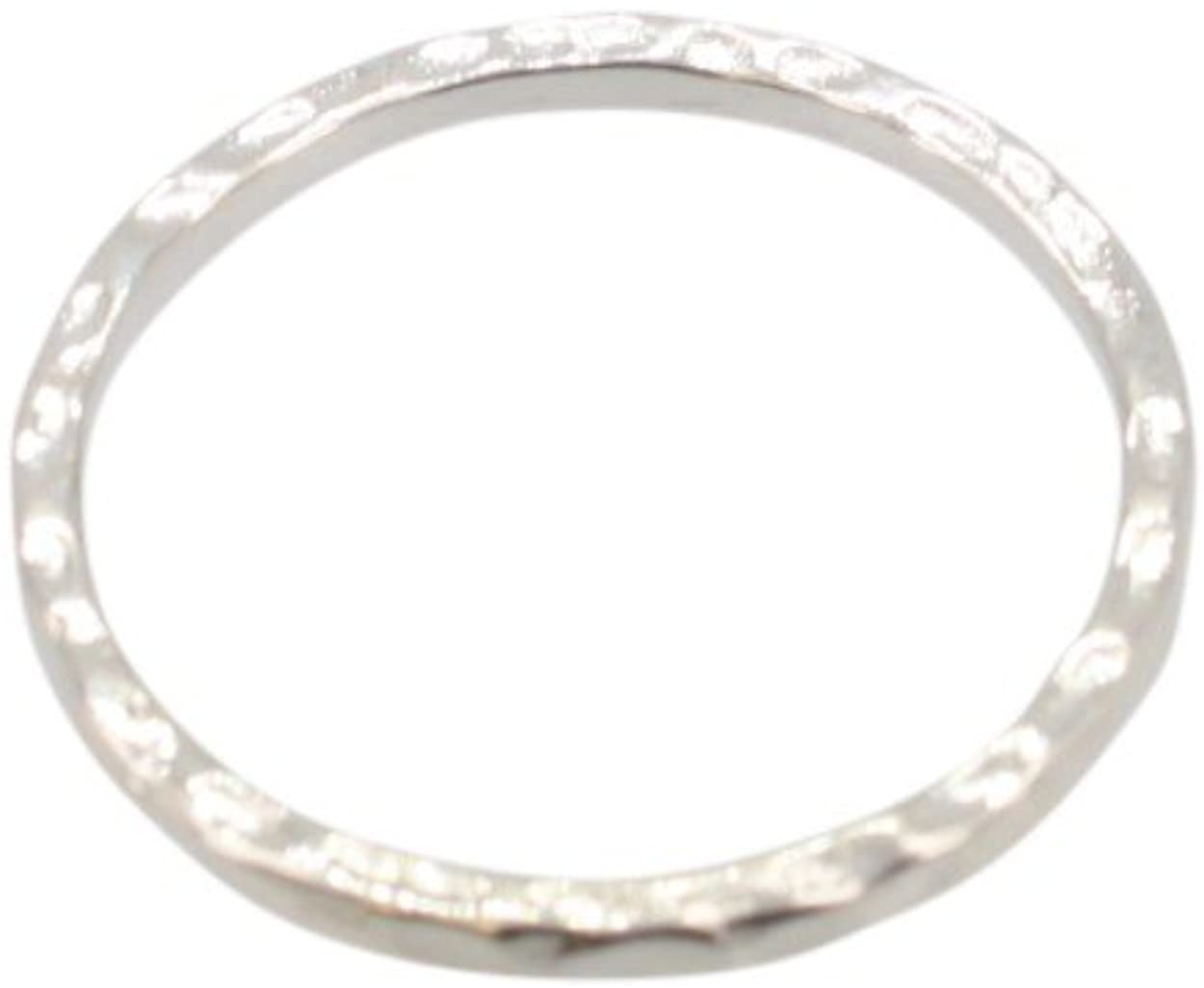 Thin Hammered Stack Ring in Sterling Silver, #6369