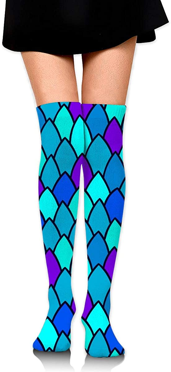 Game Life High Socks Mermaid Scales Sport Socks Crew Socks