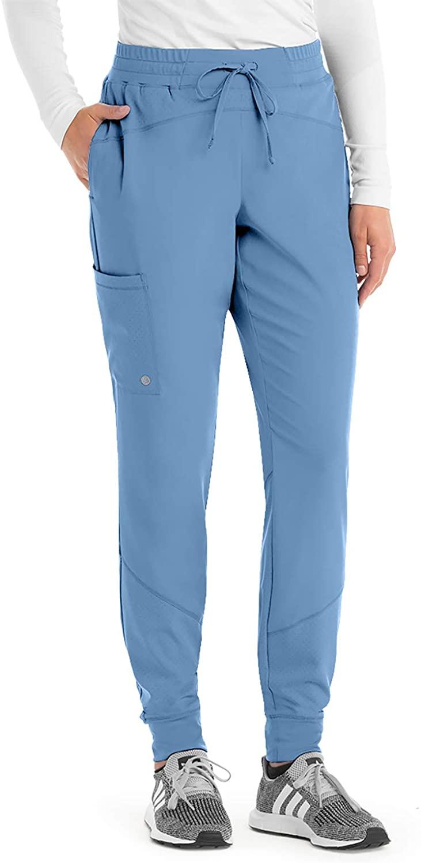 BARCO One BOP513 Women's Cargo Jogger Scrub Pant Ciel Blue XL