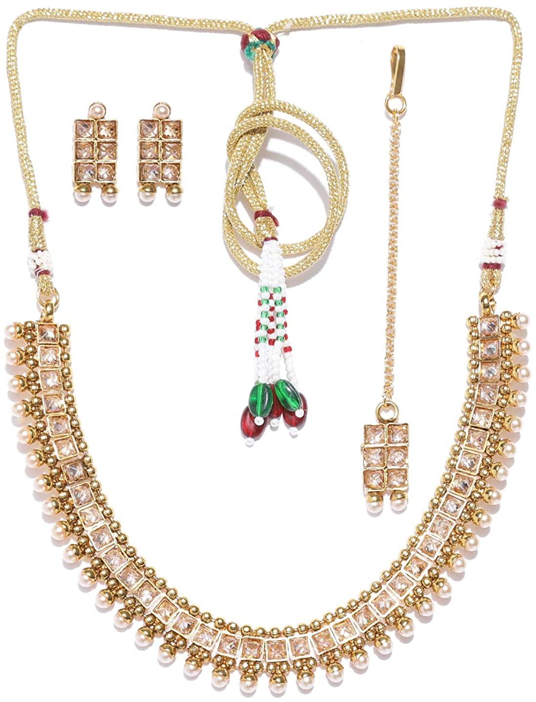 Indian Bollywood Designer Gold Plated Necklace set