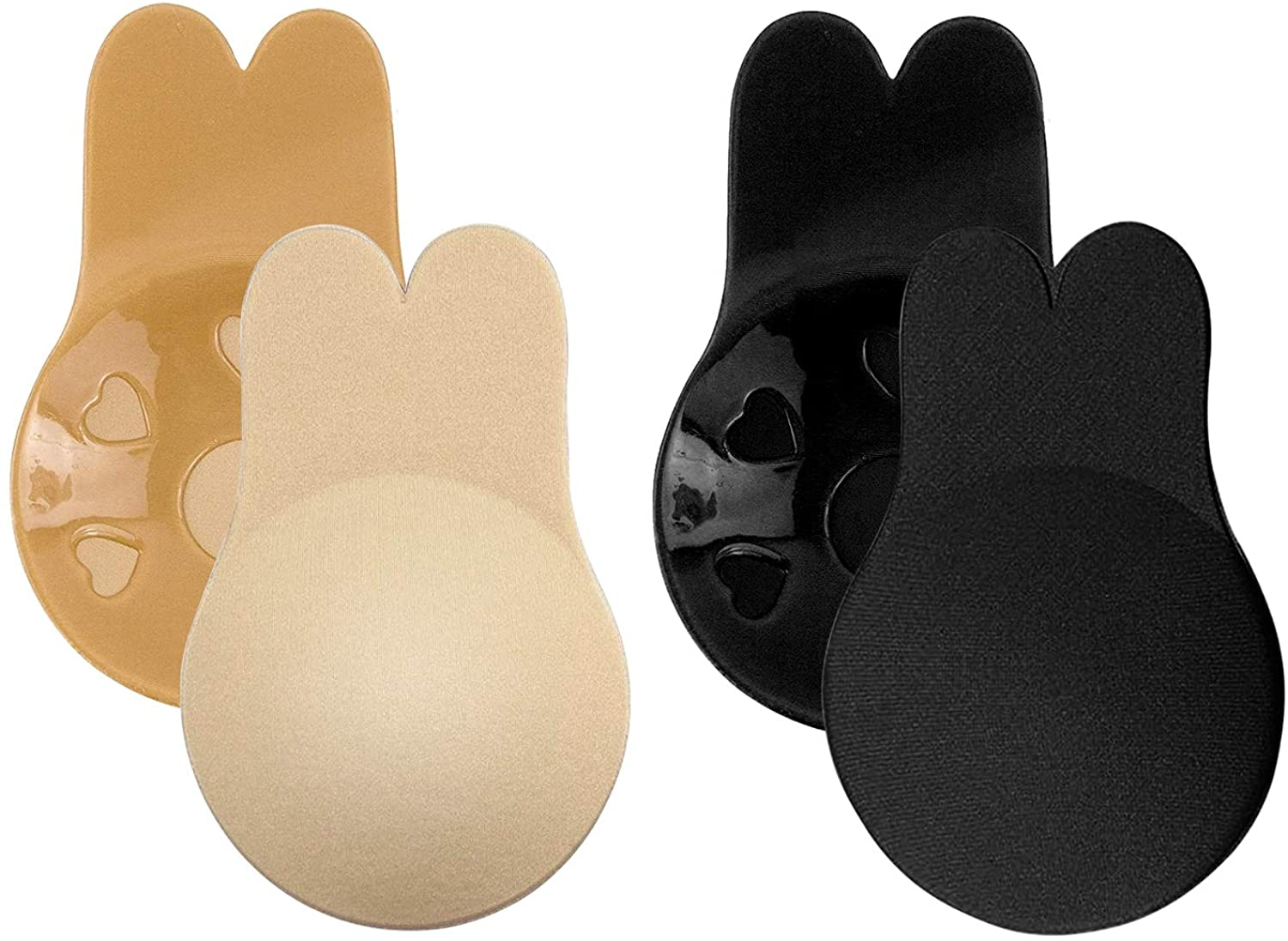 Invisible Bra, Reusable Adhesive Bra 2 Pairs, Strapless Backless Waterproof Bra, Sticky Lift Pasties