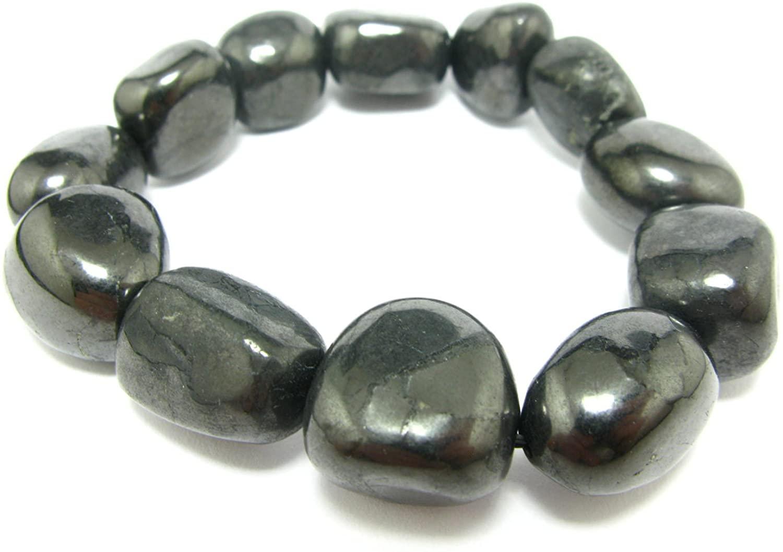 Shungite Bracelet From Russia - Freeform Tumbled Beads