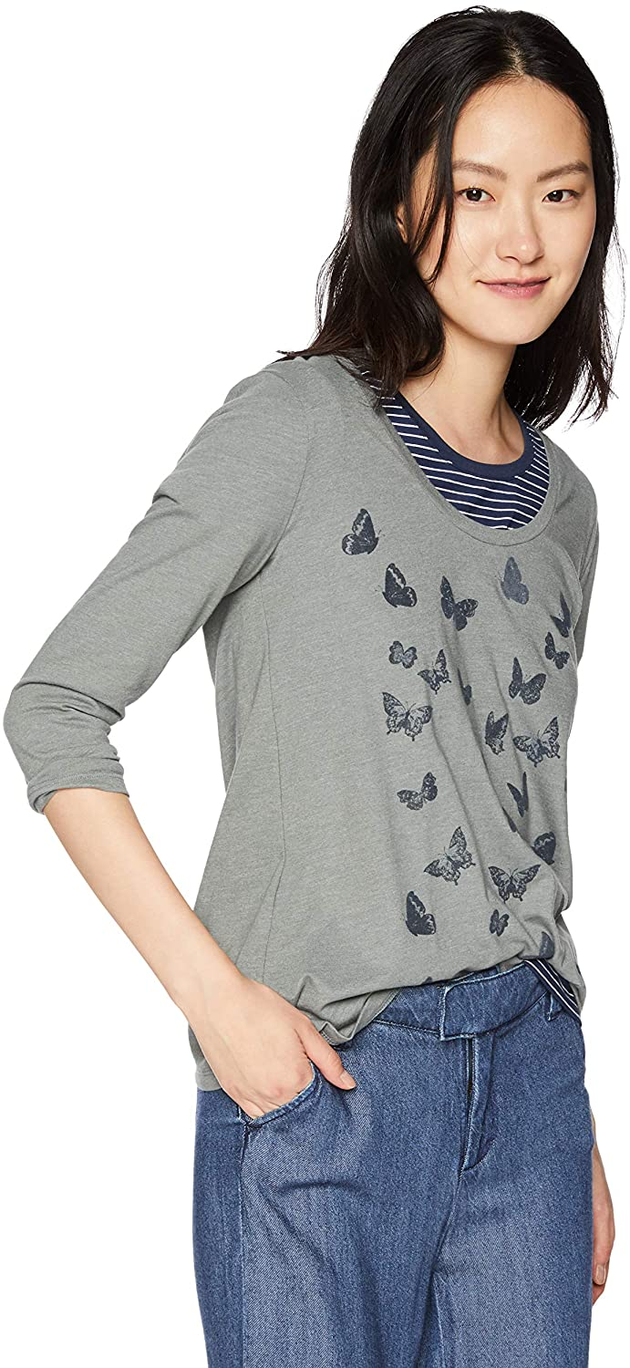 Lucky Brand Women's Allover Butterfly Tee