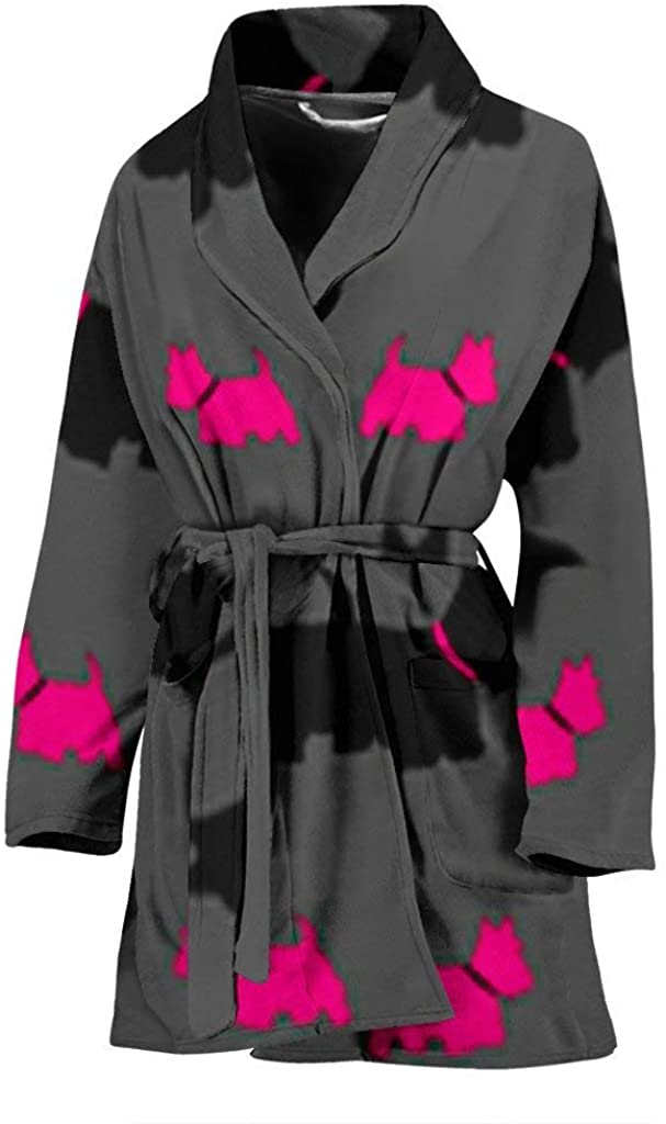 Pawlion Scottish Terrier Print Women's Bath Robe