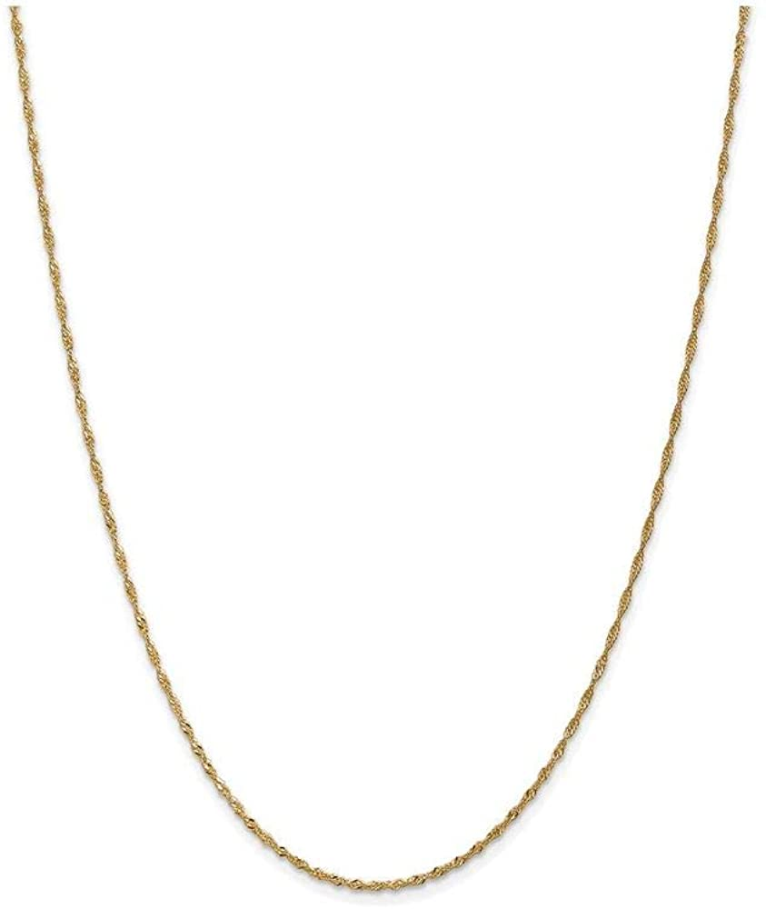 Finejewelers 14k 1.6mm Singapore Chain Necklace