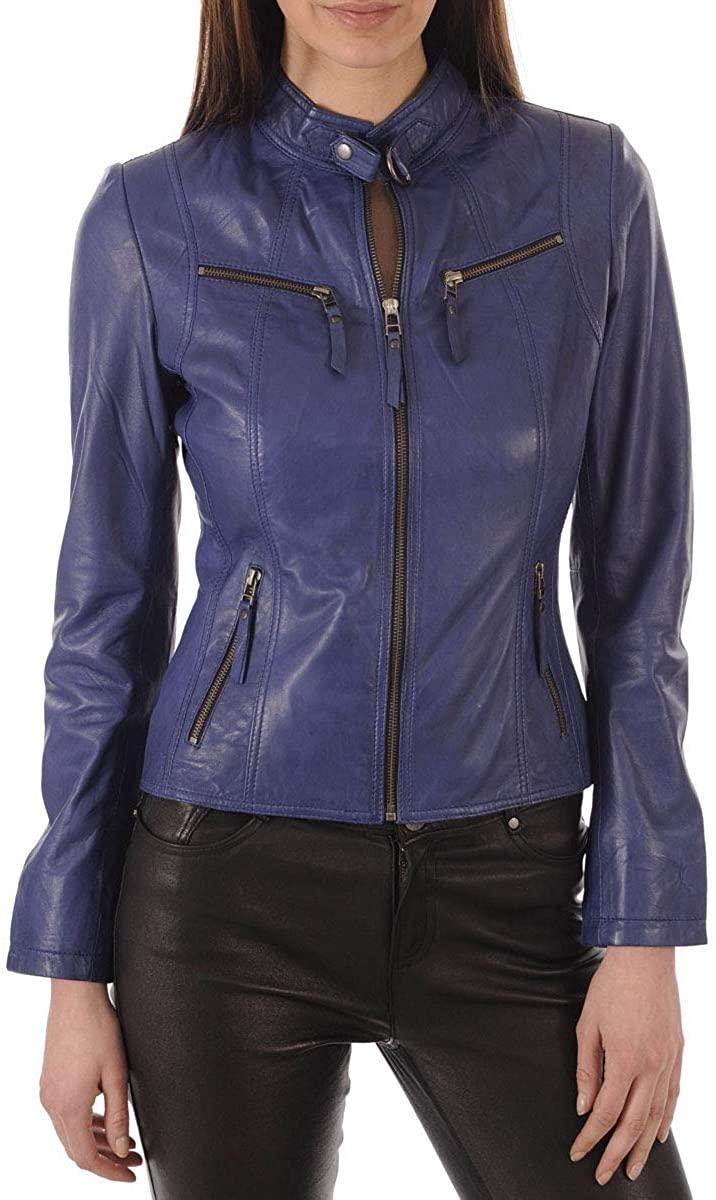 KAINAT Lambskin Leather Craft Womens Biker Jacket 255