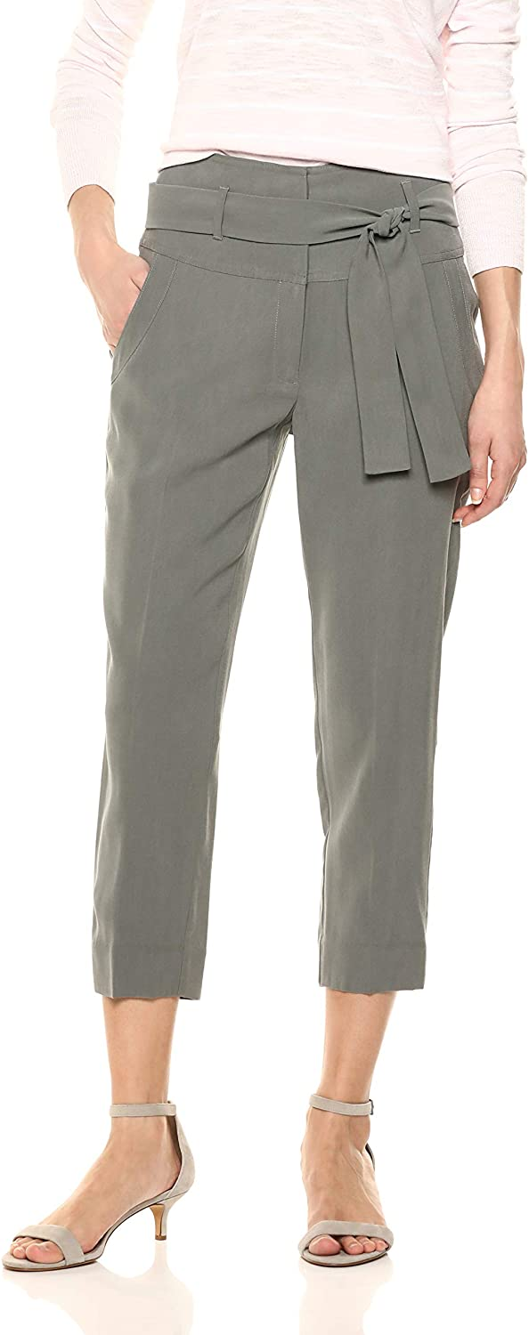BCBGeneration Women's Wide Waist Cropped Pant