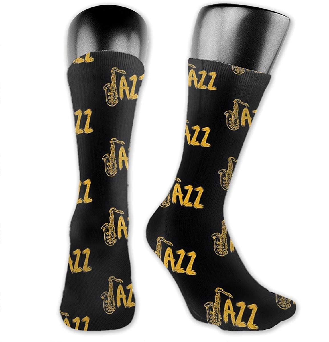 Unisex Crazy Funny Jazz Saxophone Socks Colorful Running Sport Socks Novelty Casual Crew Socks