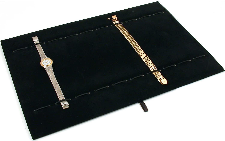 Black Velvet 10 Slot Bracelet Watch Black Display Tray Insert Pad