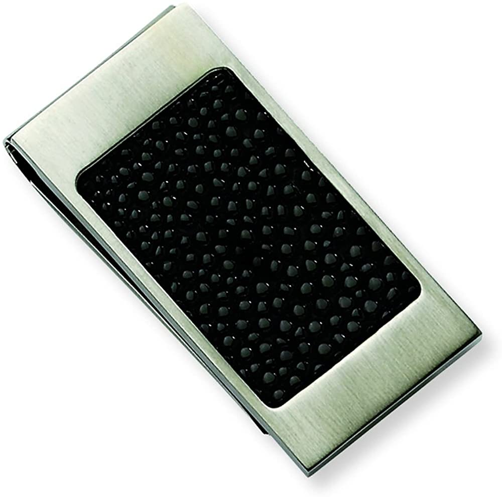 Chisel Stainless Steel Brushed Black IP-plated Money Clip 45