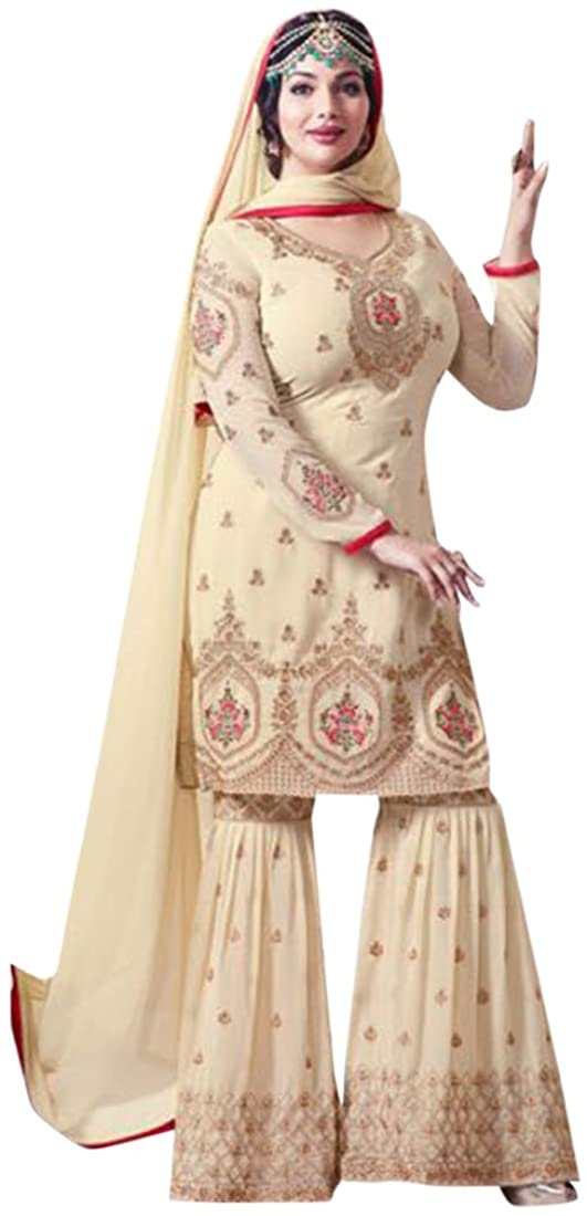 Eid Festival Bollywood Collection Straight Kameez With Sharara Custom to Measure festive party wear Ceremony Muslim 2640 4