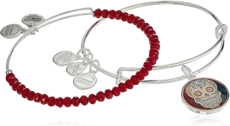 Alex and Ani Art Infusion, Calavera II Set Bangle Bracelet