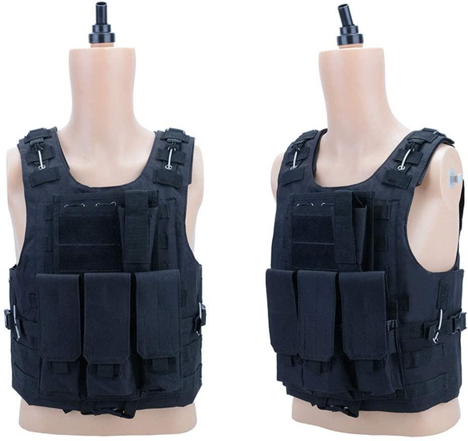 Mounchain Sports Men Women Outdoor Training Vest Camouflage Tops for Outdoor CS Field Operations black