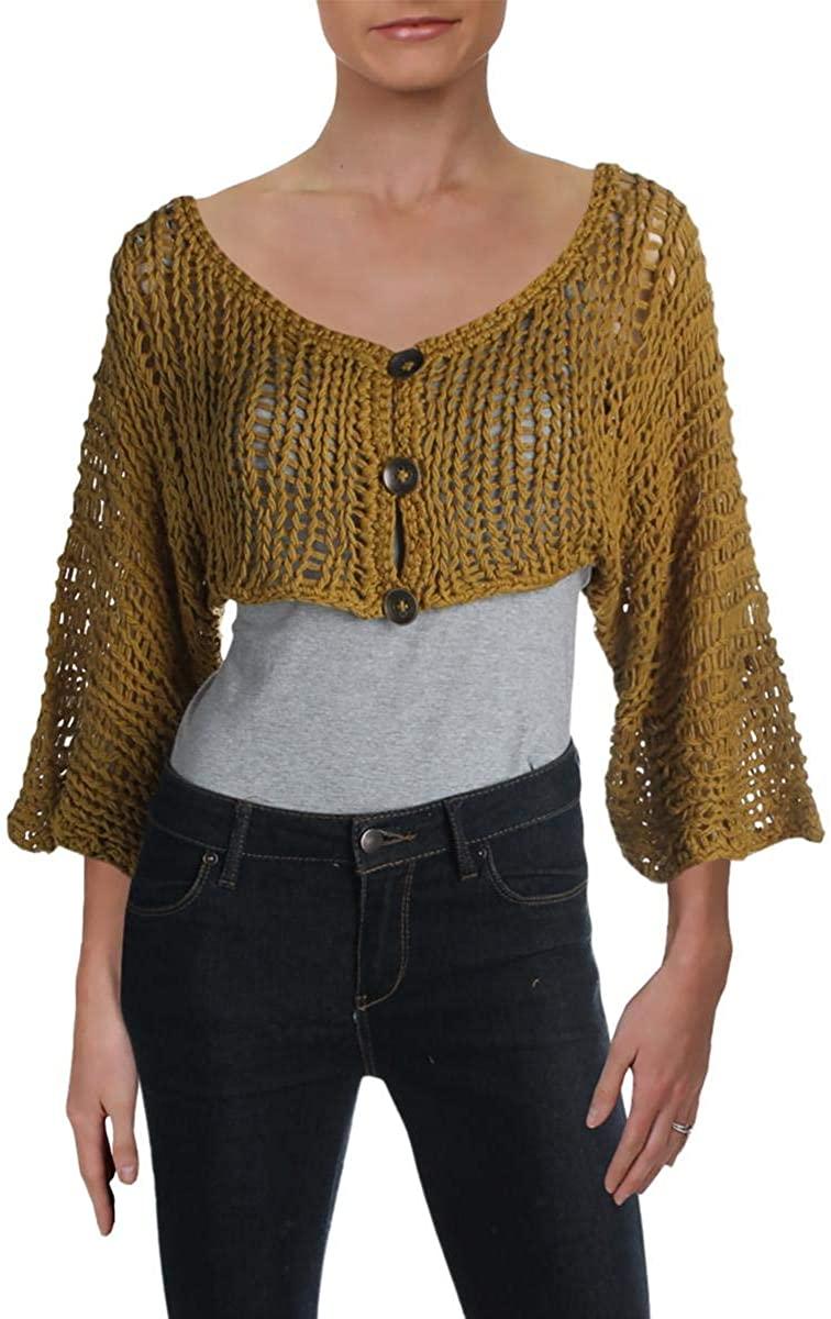 Free People Womens Chrochet Bolero Shrug Sweater